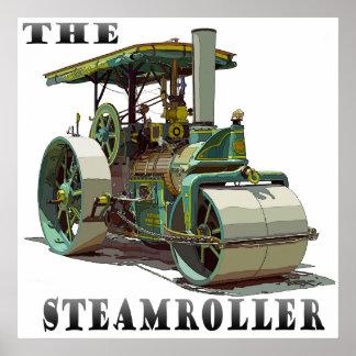 バッファローのスプリングフィールドの蒸気ローラー ポスター