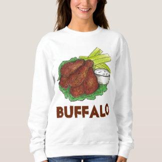 バッファローのニューヨークの鶏手羽肉のセロリのスエットシャツ スウェットシャツ