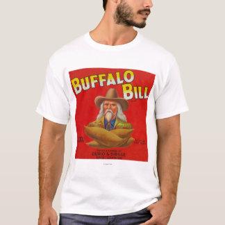 バッファローのビルのブランドのヤマイモの木枠のラベル Tシャツ