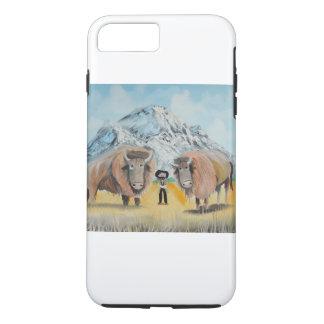 バッファローのビルの絵の野生の西 iPhone 8 PLUS/7 PLUSケース