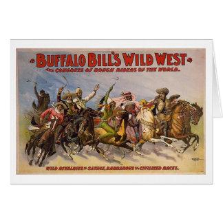 バッファローのビルの野生の西ショー カード