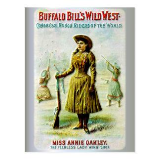 バッファローのビルの野生の西ポスターアニーOakley ポストカード