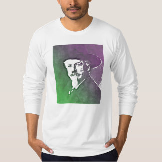 バッファローのビルCodyのポップアートのポートレート Tシャツ