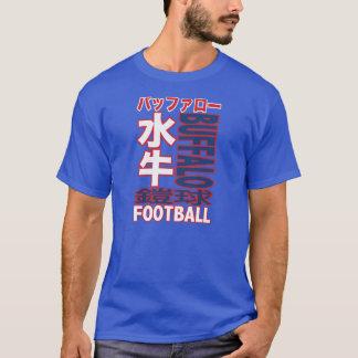 バッファローのフットボール・チームの漢字のTシャツ Tシャツ
