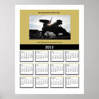 バッファローの兵士2013のカレンダー ポスター
