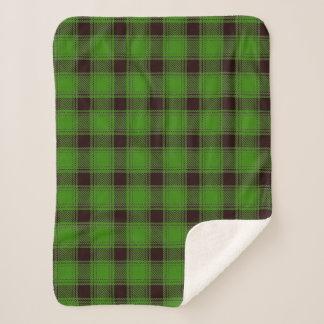 バッファローの樵の格子縞のSherpa緑の毛布 シェルパブランケット