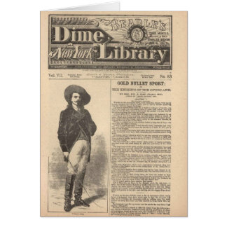 バッファロービル-教区小役人の半分のダイムの図書館1879年 カード