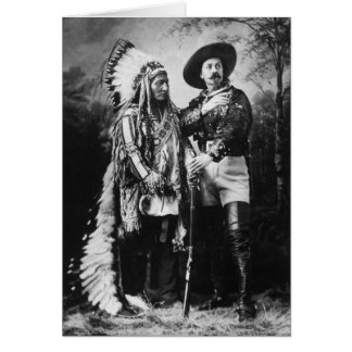 バッファロービルCody及びシッティングブル- 1885年頃… カード
