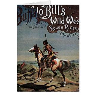 バッファロー手形の野生の西ショー カード