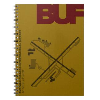 バッファロー空港(BUF)図表のノート ノートブック