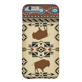 """""""バッファロー""""のネイティブアメリカンの西部のiPhone6ケース Barely There iPhone 6 ケース"""