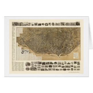 バッファロー、NYのパノラマ式の地図- 1902年 カード