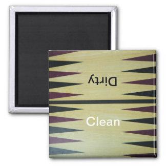 バツクギャモン盤のきれい汚れた食洗機の磁石 マグネット