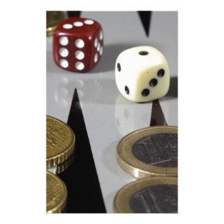 バツクギャモン盤の硬貨 便箋