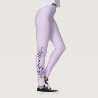 バトンガールの紫色の文字およびバトン レギンス