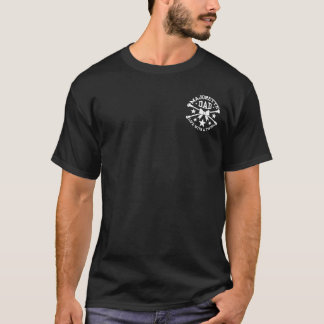 バトンガール、バトンガールのパパは、バトンを交差させました Tシャツ