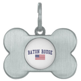 バトン・ルージュ米国の旗 ペットネームタグ