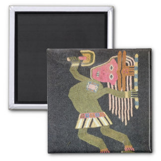 バトン、Paracasの種族を持つ編まれたウールのダンサー マグネット