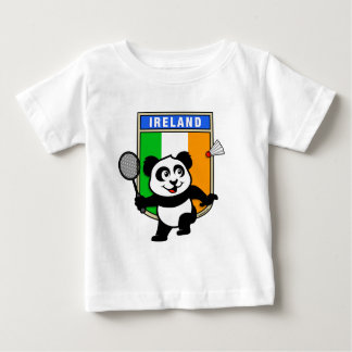 バドミントンのアイルランドのパンダ ベビーTシャツ