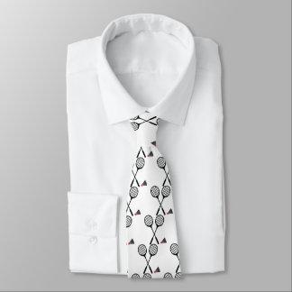 バドミントンのギフト、ラケットおよびshuttlecockのカスタム オリジナルネクタイ