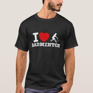 バドミントンのデザイン Tシャツ