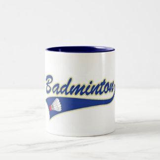 バドミントンのマグ ツートーンマグカップ