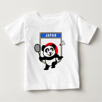 バドミントンの日本パンダ ベビーTシャツ
