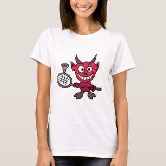 バドミントンの漫画を遊んでいるX-Y悪魔 Tシャツ