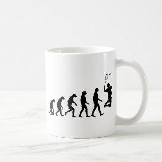 バドミントンの進化 コーヒーマグカップ