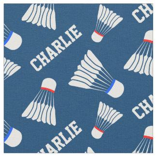 バドミントンのshuttlecockの青い一流パターン生地 ファブリック