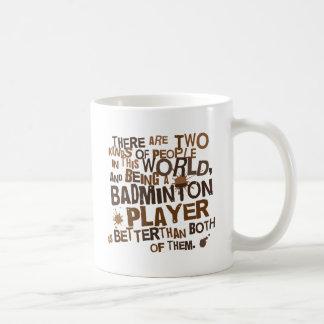 バドミントンプレーヤーの(おもしろいな)ギフト コーヒーマグカップ