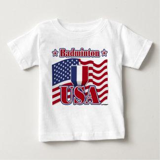 バドミントン米国 ベビーTシャツ