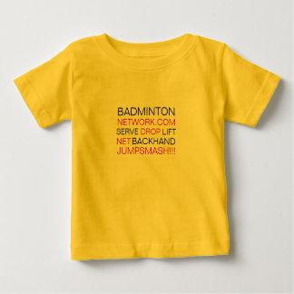 バドミントン、NETWORK.COMのサーブ、低下、上昇、ジャンプ… ベビーTシャツ