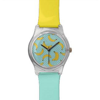 バナナおよびポークの点 腕時計
