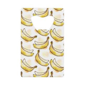 バナナが付いているパターン クレジットカード 栓抜き