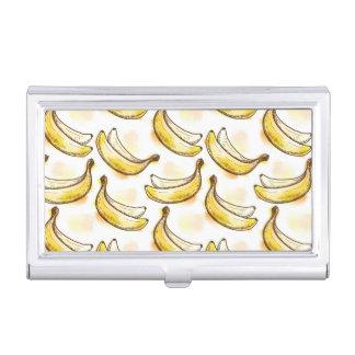 バナナが付いているパターン 名刺入れ
