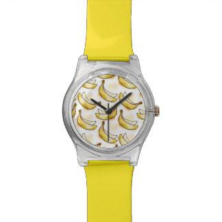 バナナが付いているパターン 腕時計