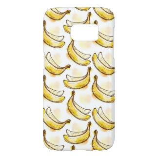 バナナが付いているパターン SAMSUNG GALAXY S7 ケース