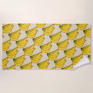 バナナのお祝い ビーチタオル