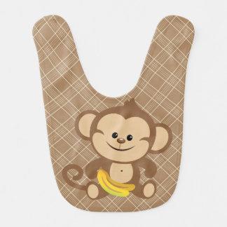 バナナのよだれかけを持つ格子縞猿 ベビービブ