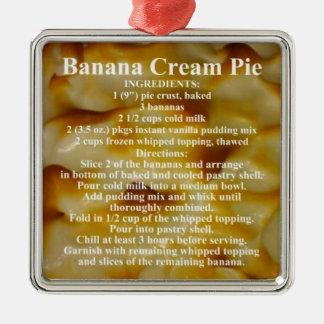 バナナのクリームパイのレシピ メタルオーナメント
