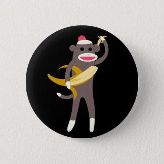 バナナの剣Pinのソックス猿 5.7cm 丸型バッジ