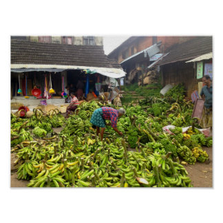 バナナの市場 ポスター