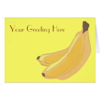 バナナの挨拶状 カード
