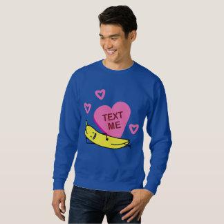 バナナの文字の私バレンタインのバレンタインデーの置くこと スウェットシャツ