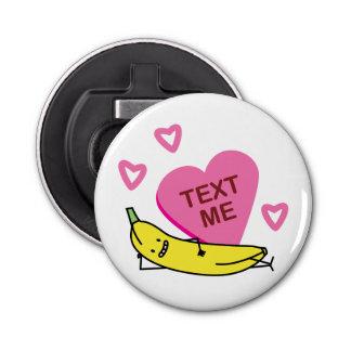 バナナの文字の私バレンタインのバレンタインデーの置くこと 栓抜き