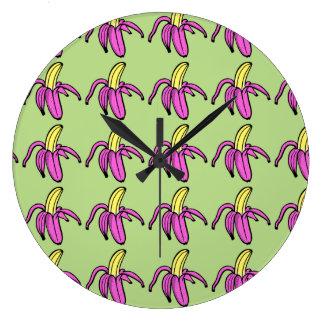 バナナの時間 ラージ壁時計