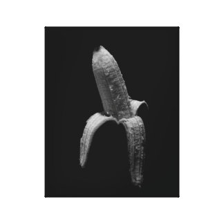 バナナの白黒ポートレート キャンバスプリント