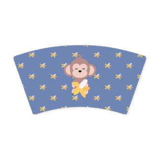 バナナの紙コップを持つかわいいかわいい猿 紙コップ