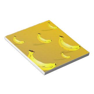 バナナの背景 ノートパッド